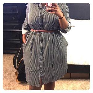 Lane Bryant shirt dress